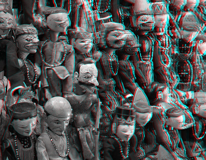 Kenneth A. Huff, Anaglyph of wayang golek puppets in Singapore